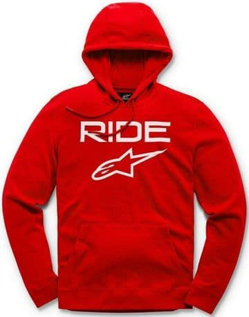 Alpinestars Casual Astars Ride 2.0 Fleece Pullover Hoodie - Red/White